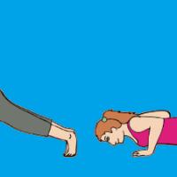 Pilates Plank to Push Up
