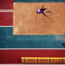 Roberto La Barbera of Italy competing in the Men's Long Jump during the 2000 Sydney Paralympic Games at Stadium Australia in Sydney, Australia, October 22, 2000. Mandatory Credit: Adam Pretty/ALLSPORT