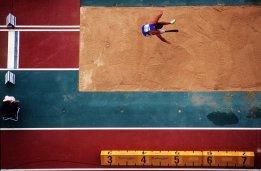 Roberto La Barbera of Italy competing in the Men's Long Jump during the 2000 Sydney Paralympic Games at Stadium Australia in Sydney, Australia, October 22, 2000. Mandatory Credit: Adam Pretty/ALLSPORT